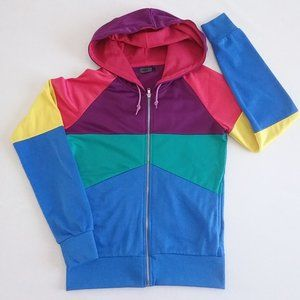 Awesome Retro colorblock track jacket/hoodie